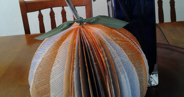 Make a pumpkin out of a book craft