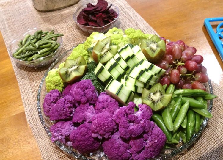 veggie platters can have fruit too!