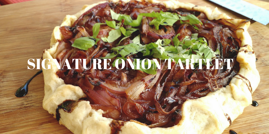 Signature Onion Tartlet