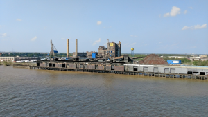 Sugar mill on the Mississippi River