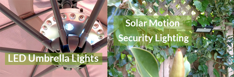 LED and Solar Lights can save a ton of energy!