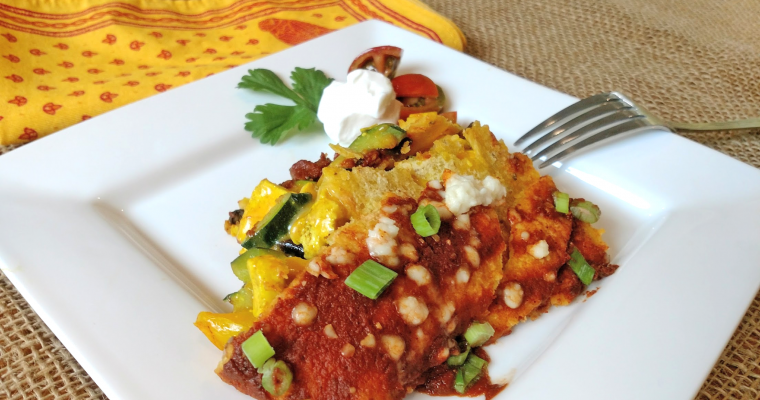 Tofu Veggie Enchilada Bake with Simply Organic