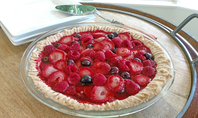 Berry Bake with Coconut Oil Crust