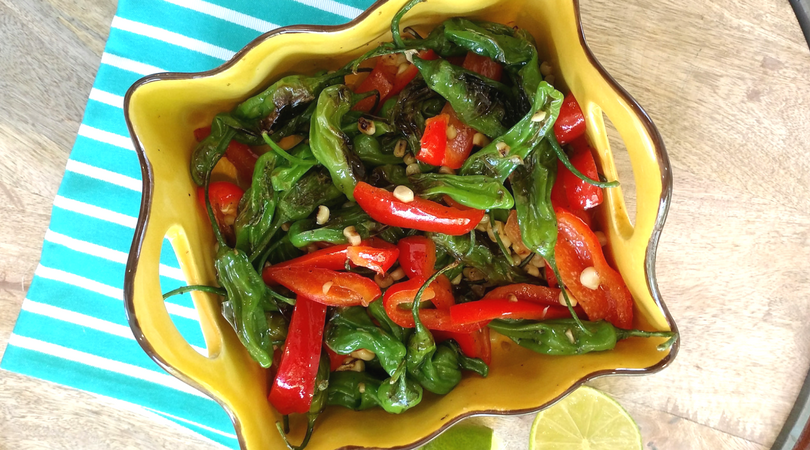 Spicy Grilled & Chilled Pepper Salad