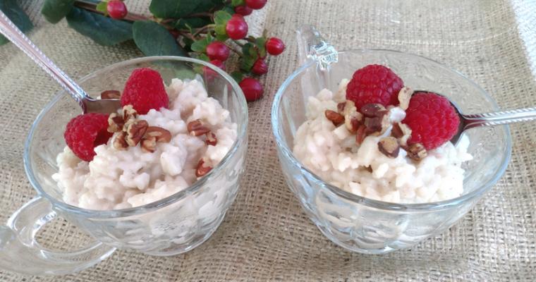 Almondmilk Rice Pudding with Cardamom