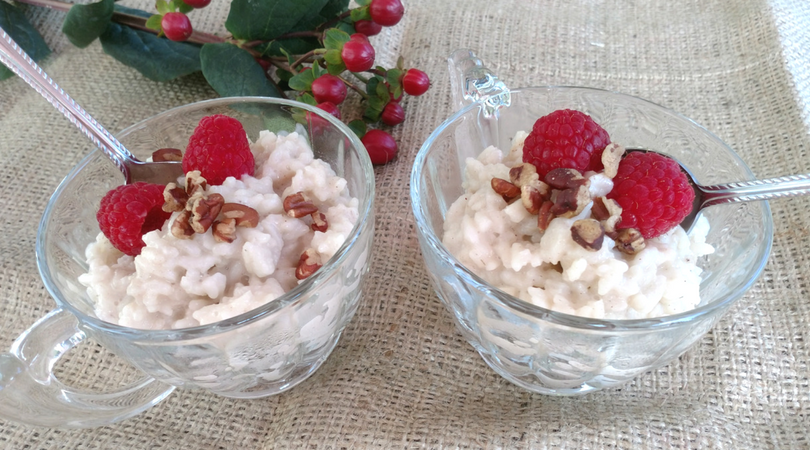 Almondmilk Rice Pudding with Cardamom
