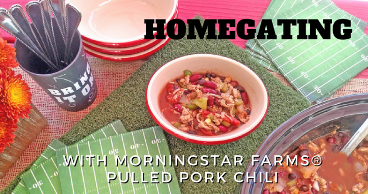 Homegating with Morningstar Farms® Pulled Pork Chili