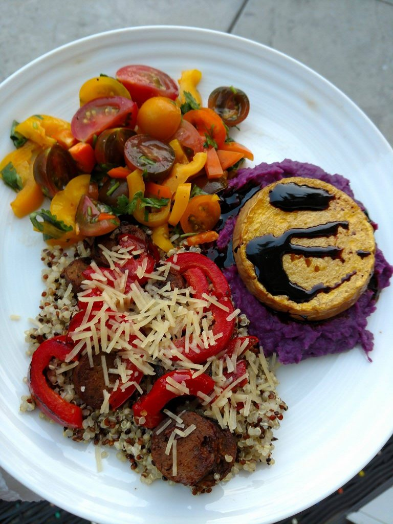 Halloween Food: Full Moon Squash Over Purple Potato Sky