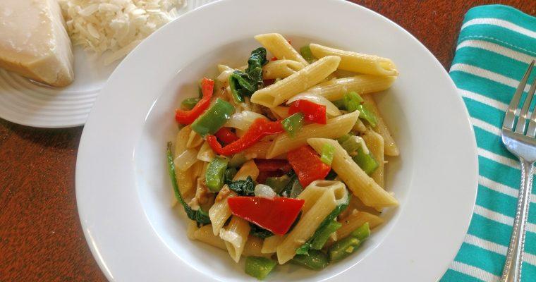 Pepper & Onion Pasta with Parmigiano Reggiano