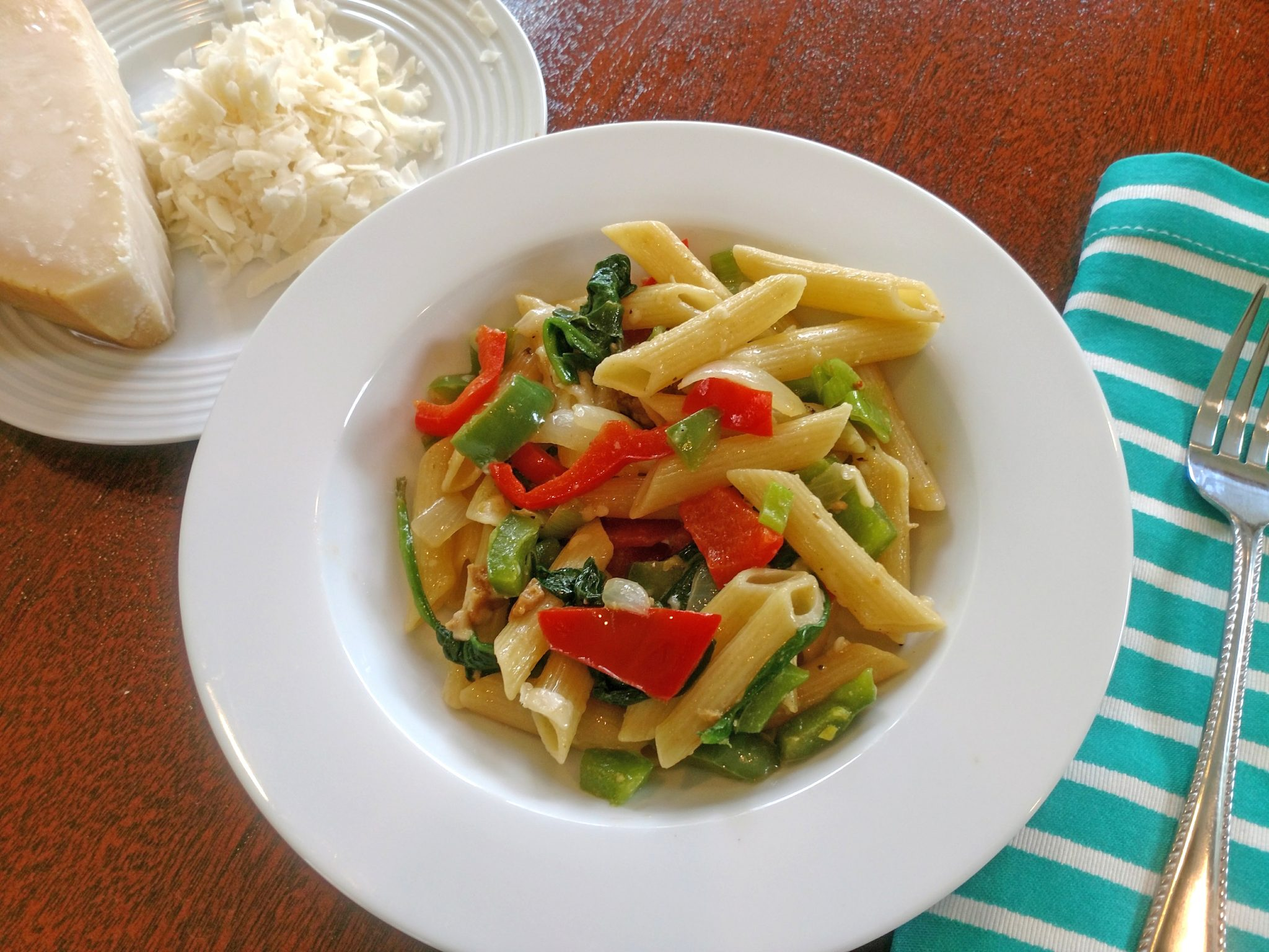 Pepper & Onion Pasta with Parmigiano Reggiano