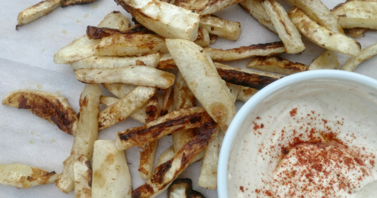 Baked Spicy Turnip Fries