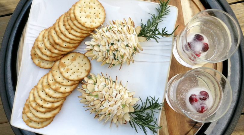 Pinecone Cheese Ball Recipe with Almonds