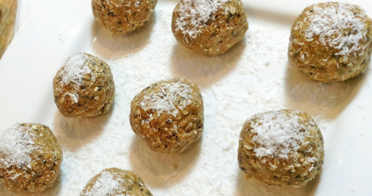 No Bake Chia Peanut Butter Energy Balls