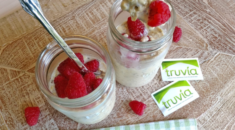 Peanut Butter Overnight Oats with Truvia Natural Sweetener