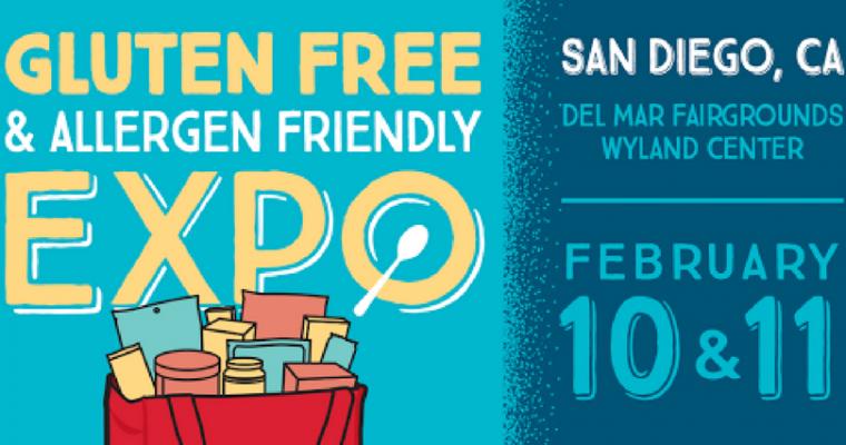 Gluten Free & Allergen Friendly Expo in San Diego, Feb. 10-11, 2018
