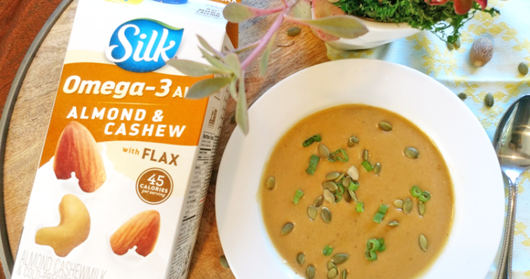 Curried Butternut Squash Soup with Silk Almond & Cashew Milk