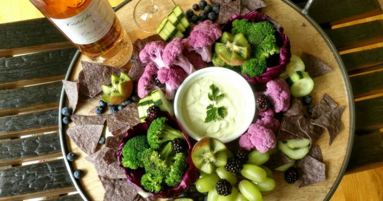 two color veggie platter ideas