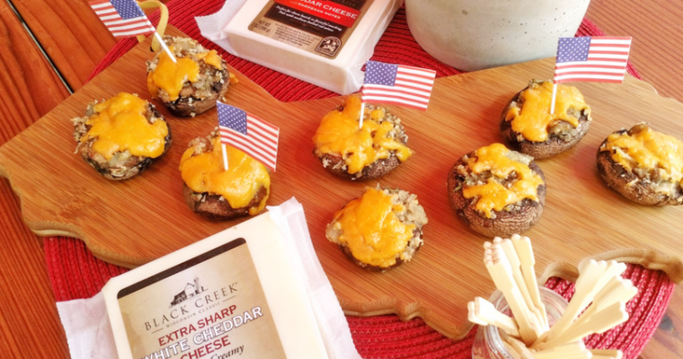 Stuffed Rosemary Mushrooms Are Better With Cheddar