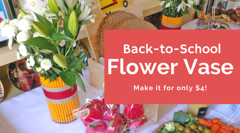Back-to-School Flower Vase Craft