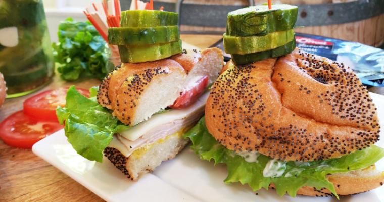 Artisan Turkey Sandwich with Homemade Garlic Pickles
