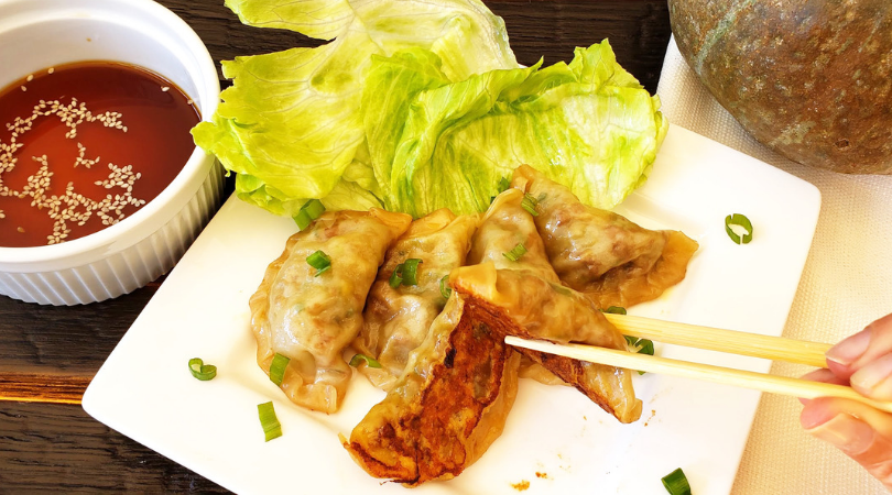 Vegan Ginger Squash Potstickers with Twin Dragon Asian Wrapper