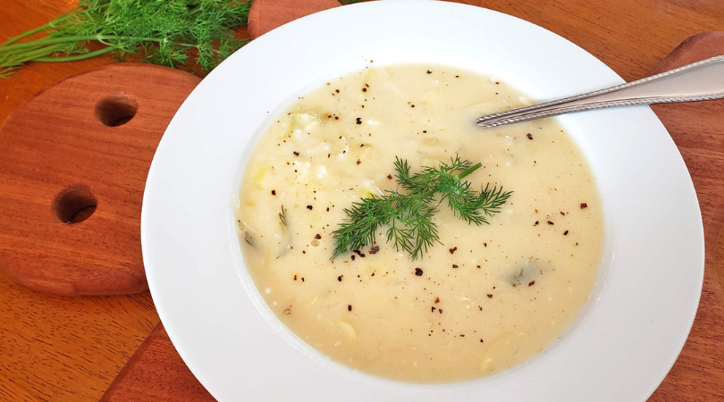 lemon leek soup with rice
