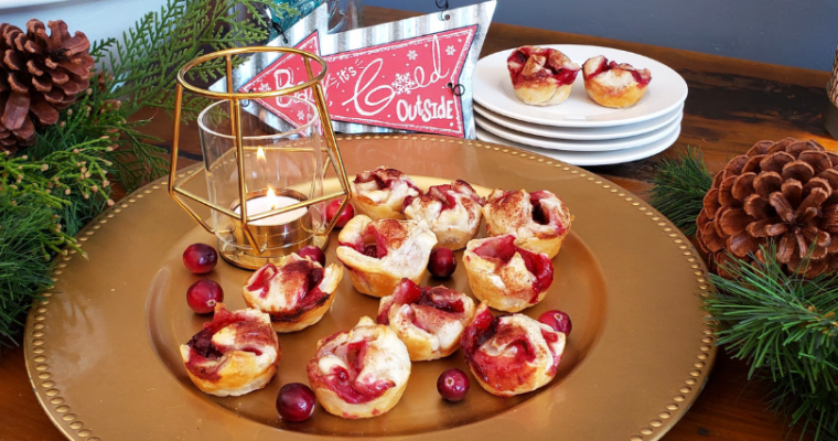 Low-Sugar Holiday Cranberry Brie Bites