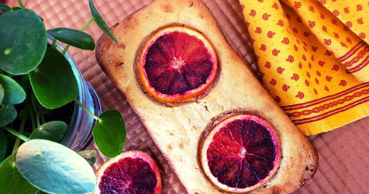 Blood orange quick bread loaf