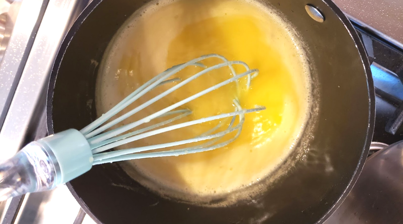 stir lemon curd constantly so it's smooth