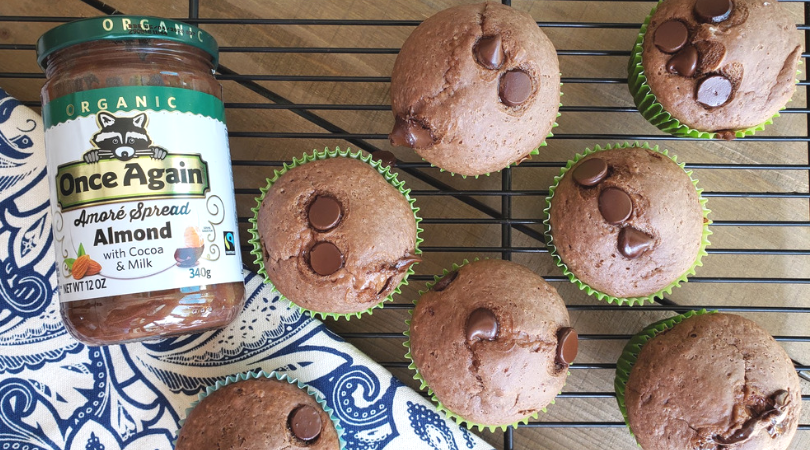 Chocolate Almond Butter Muffins with Once Again Nut Butters
