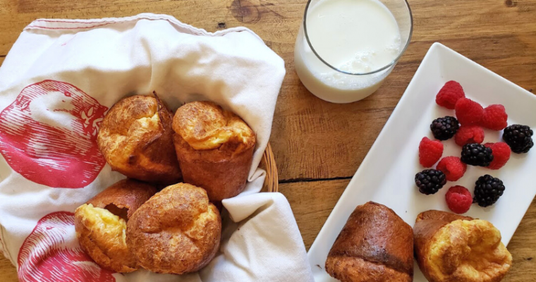 Morning Popovers with Real Milk