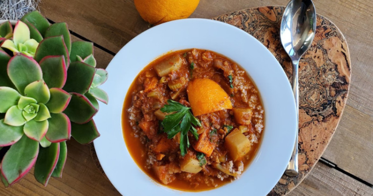 spicy orange root vegetable stew