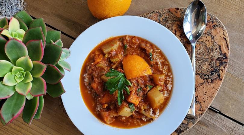 Spicy Orange Root Vegetable Stew
