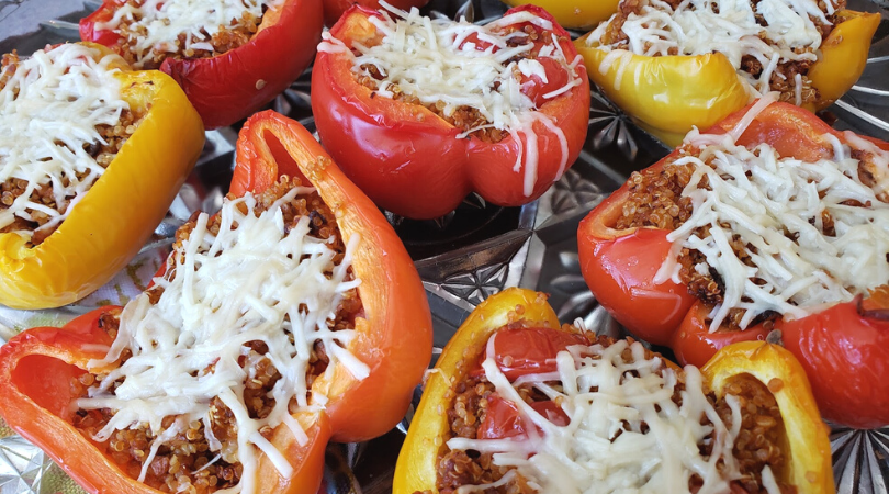 Vegetarian Roasted Peppers with Soyrizo