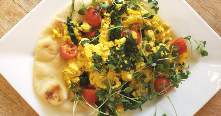 Easy Tofu Spinach Scramble