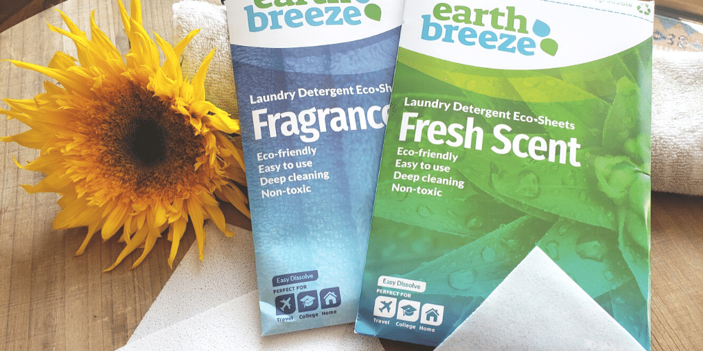 EarthBreeze: Eco-Friendly Natural Laundry Detergent Sheets