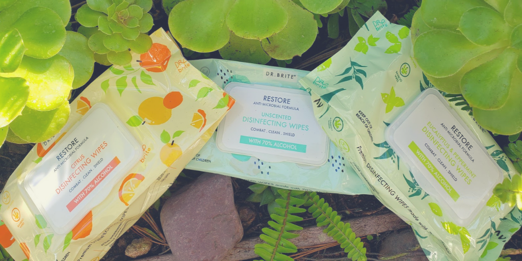 Dr. Brite Non-Toxic Natural Wipes with Isopropyl Alcohol