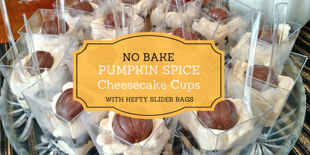 Pumpkin Spice Cheesecake Cups with Hefty® Slider Bags