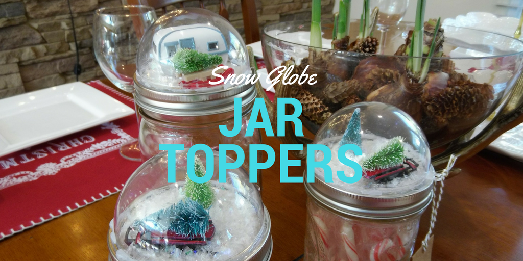 Snow Globe Inspired Jar Toppers