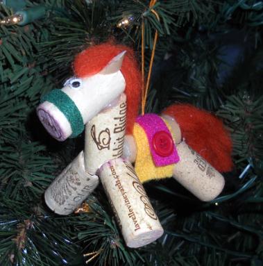 Horse Cork Ornament
