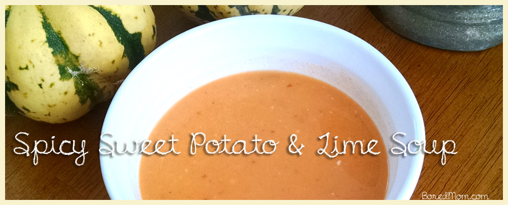Spicy Sweet Potato & Lime Soup