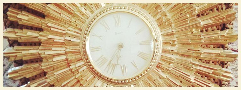 Vintage Syroco Clock